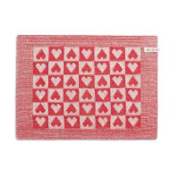 Placemat Heart Ecru/Red