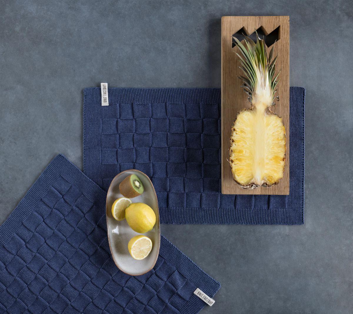 20002 knit factory placemat grote blok uni 4