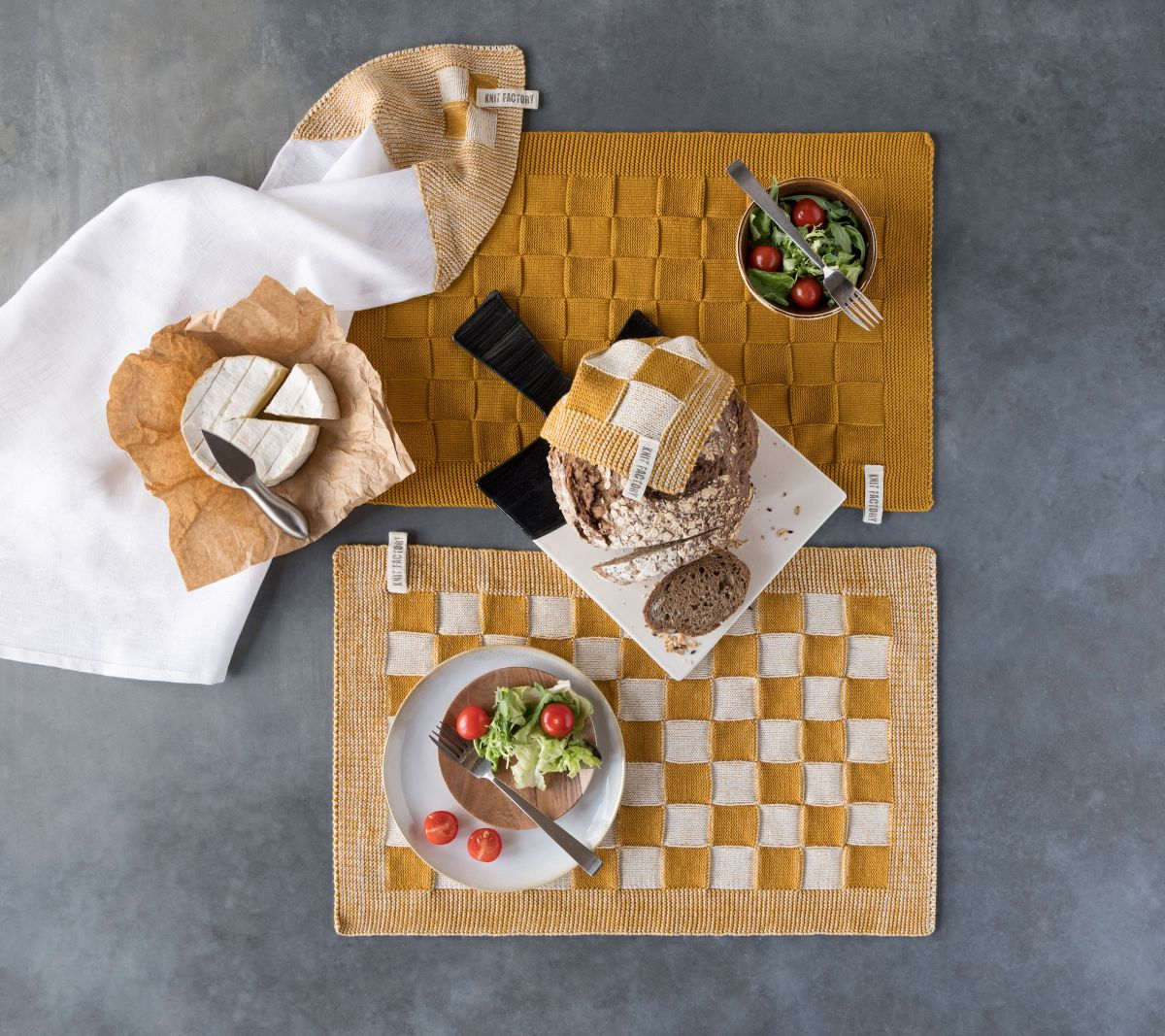 placemat uni stone green