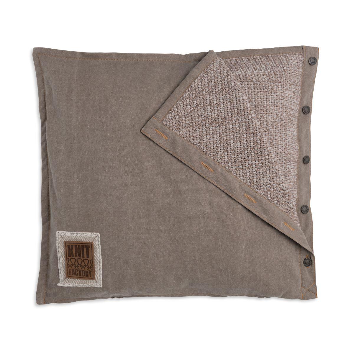 knit factory 1321252 rick kussen 50x50 beige marron 1
