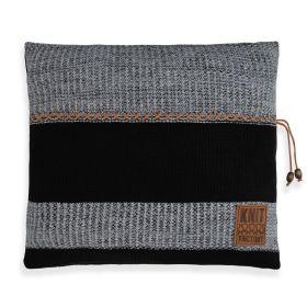 Roxx Cushion Black/Light Grey - 50x50