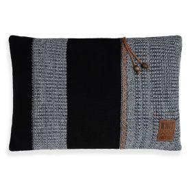 Roxx Cushion Black/Light Grey - 60x40