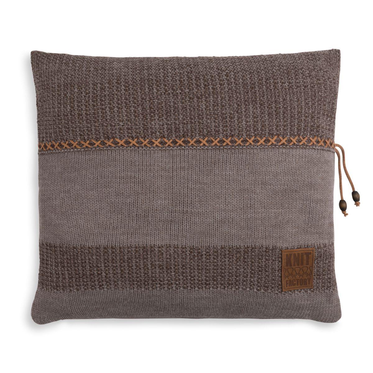 knit factory 1311248 roxx kussen 50x50 bruin taupe 1