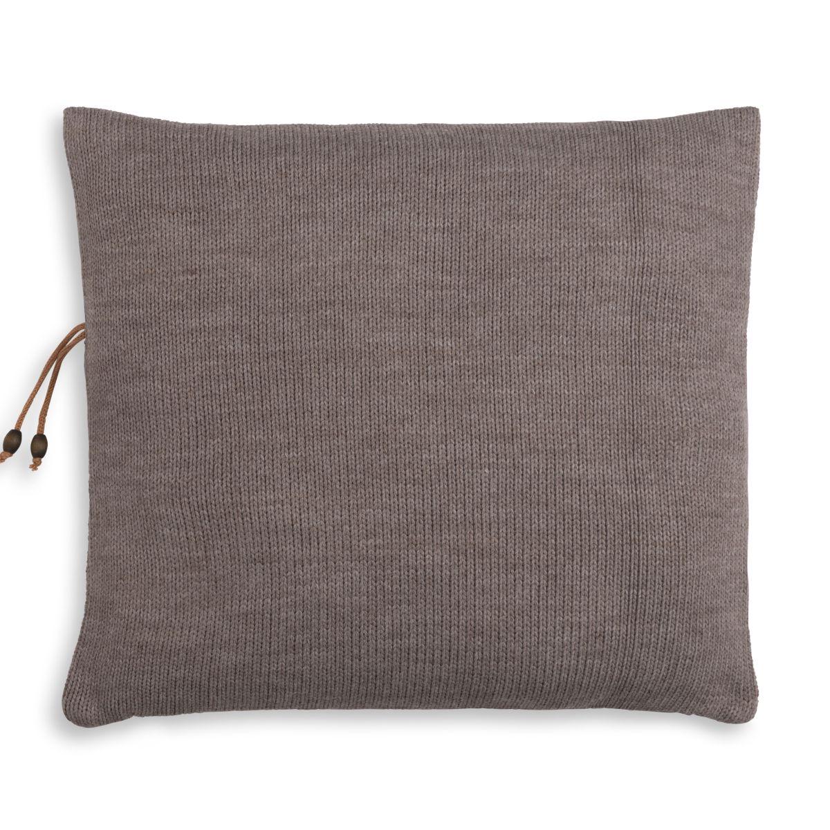 knit factory 1311248 roxx kussen 50x50 bruin taupe 2