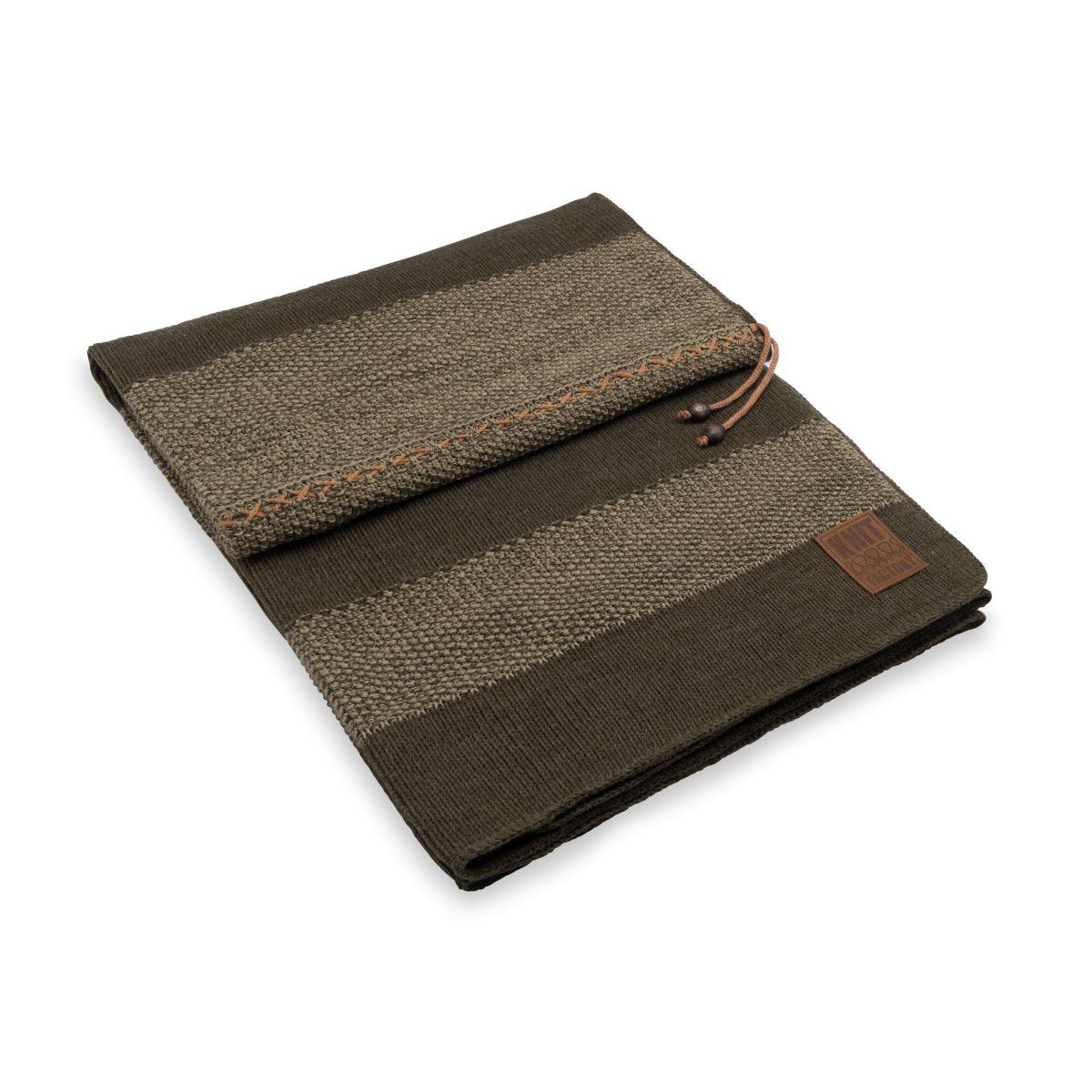 knit factory 1311144 roxx plaid groen olive 1