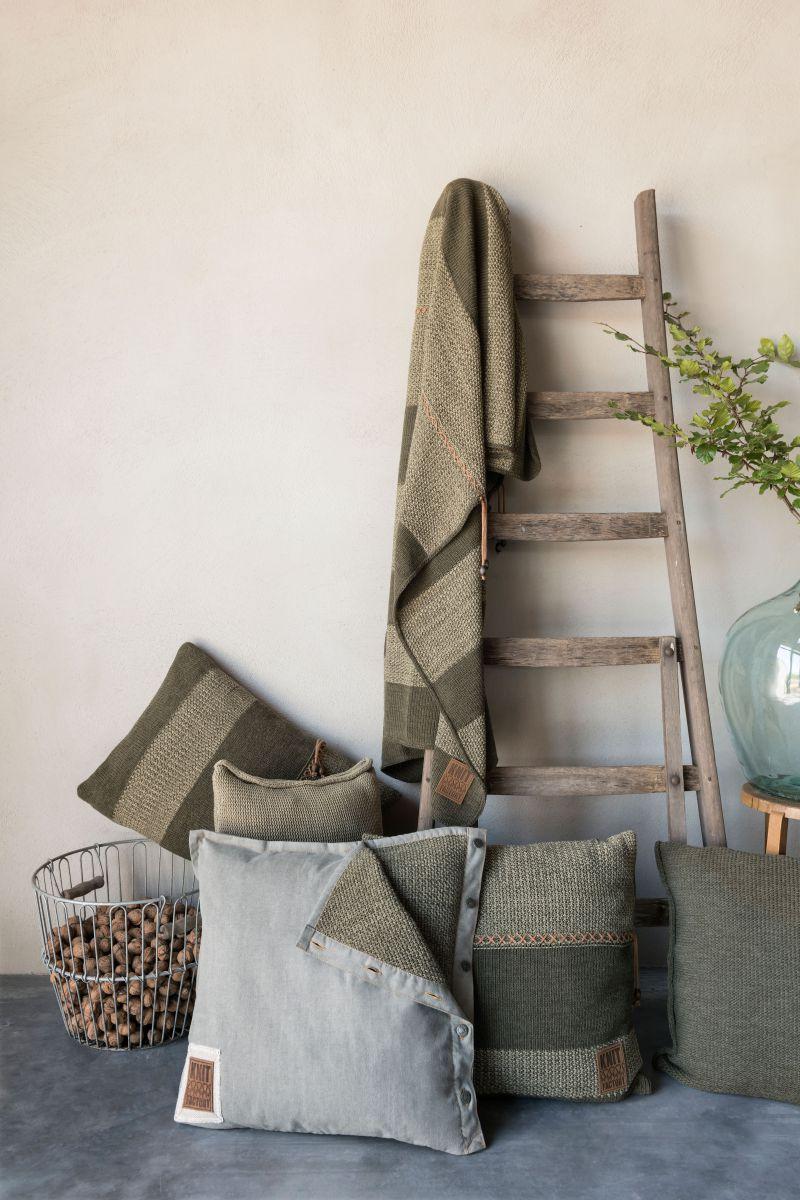 knit factory 1311144 roxx plaid groen olive 2