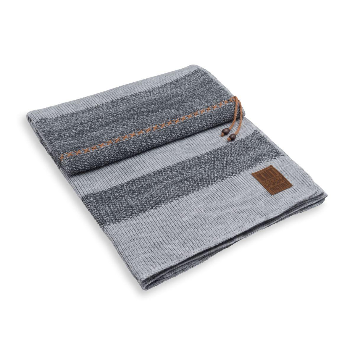 knit factory 1311151 roxx plaid grijs antraciet 1