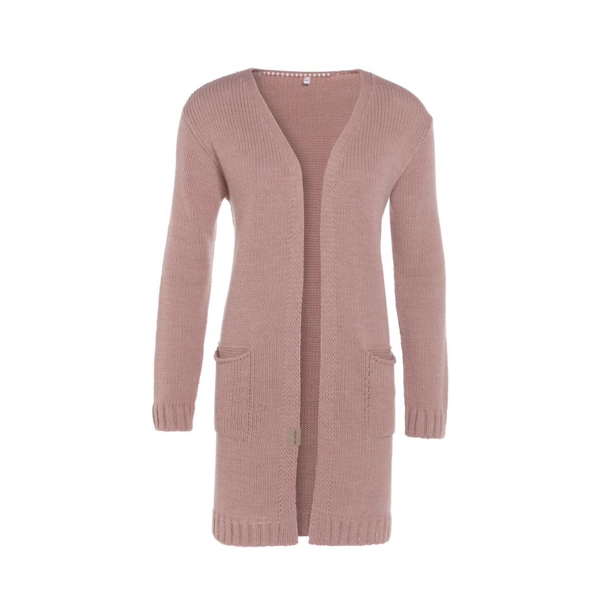 ruby knitted cardigan old pink 4042 with side pockets