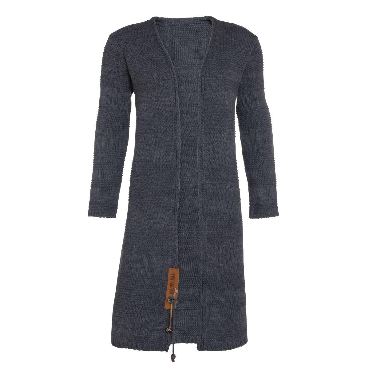 knit factory 1386210 sol vest 3638 antraciet 1