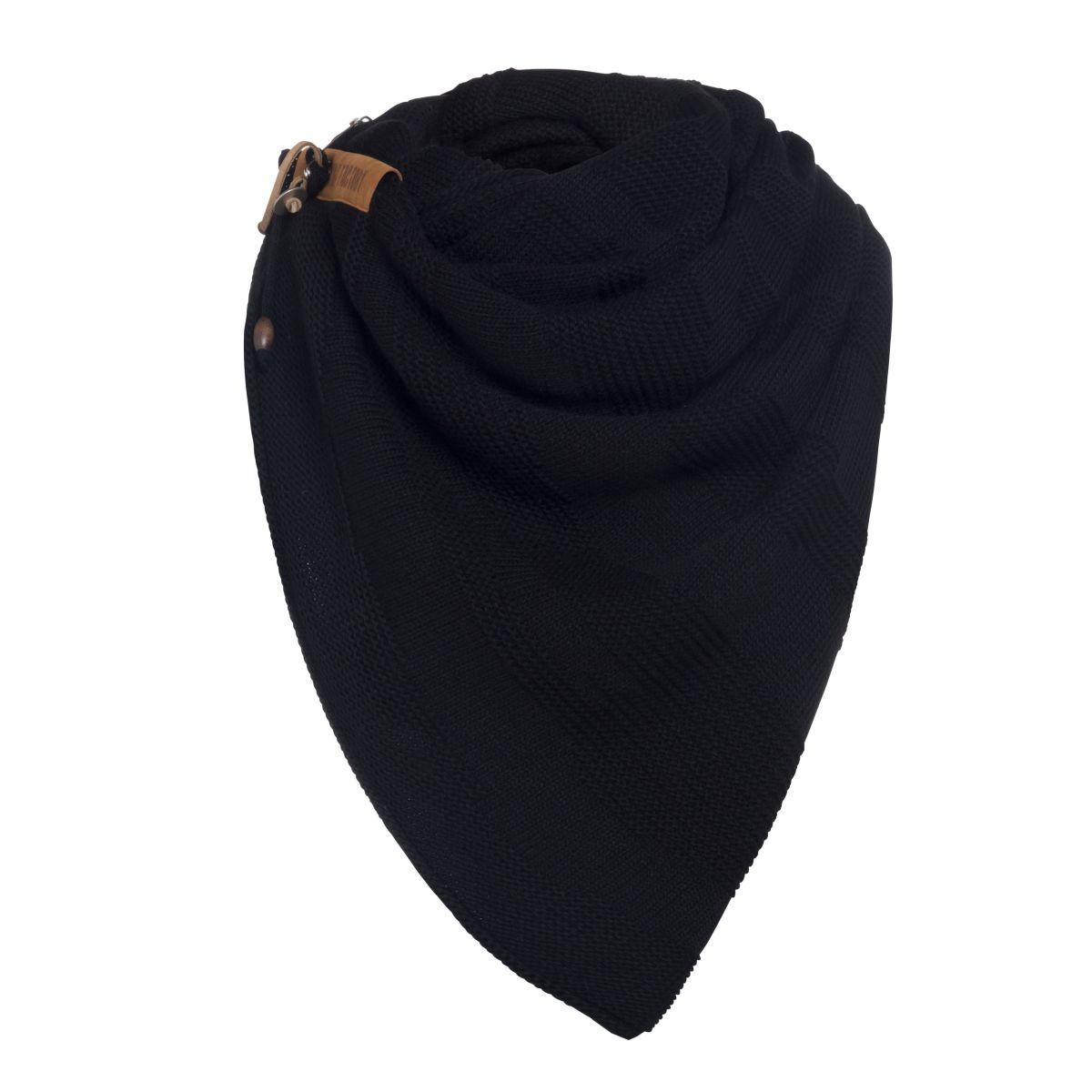 knit factory 1386500 sol sjaal zwart 3
