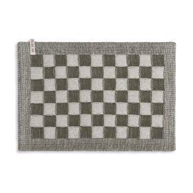 Tischset Block Ecru/Khaki