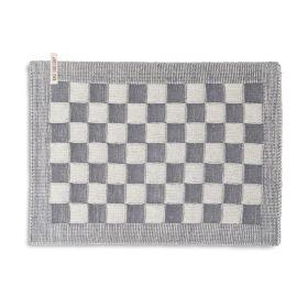 Tischset Block Ecru/Med Grey