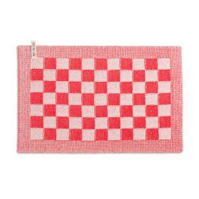 Tischset Block Ecru/Rot