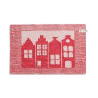 Tischset Haus Ecru/Rot