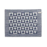 Tischset Heart Ecru/Jeans