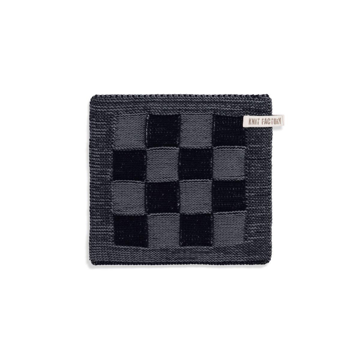 topflappen block schwarzmed grey