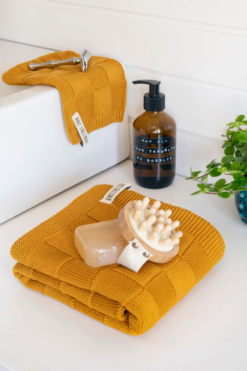 towel ivy med grey 50x100