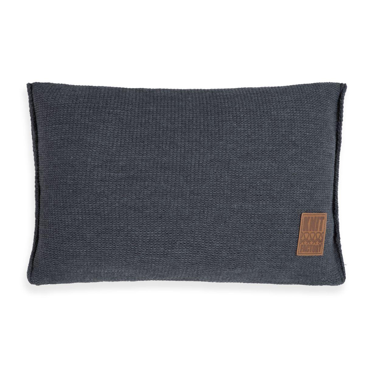 knit factory 1131310 kussen 60x40 uni antraciet 1
