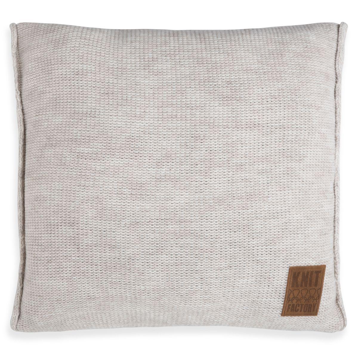 knit factory 1131212 kussen 50x50 uni beige 1