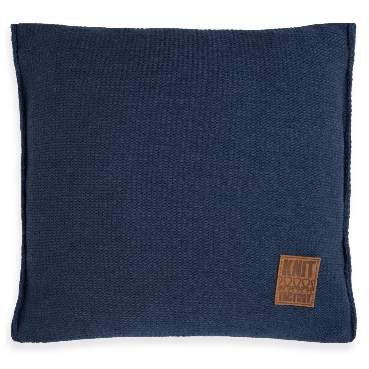 knit factory 1131213 kussen 50x50 uni jeans 1