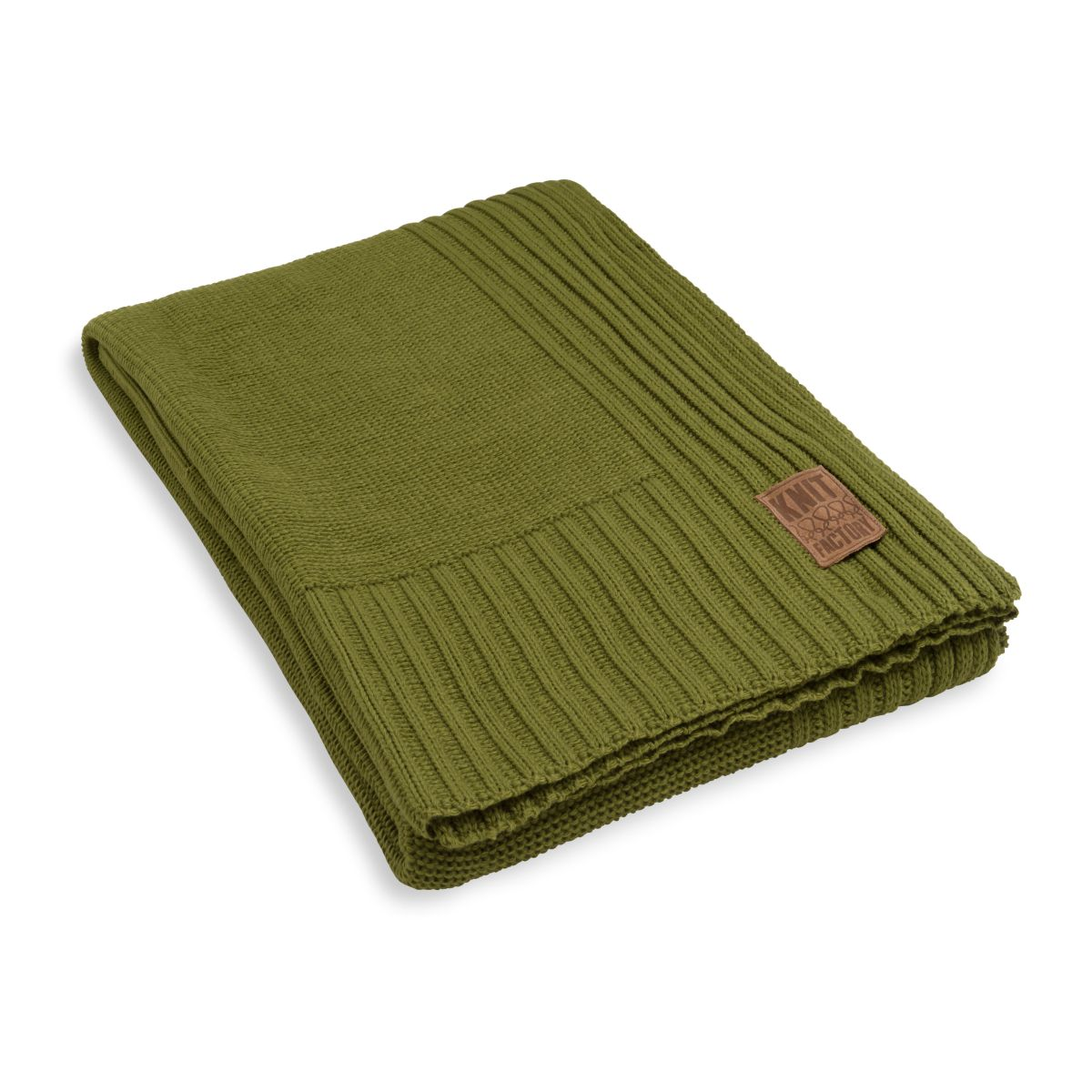 knit factory kf11301101550 plaid uni mosgroen 1