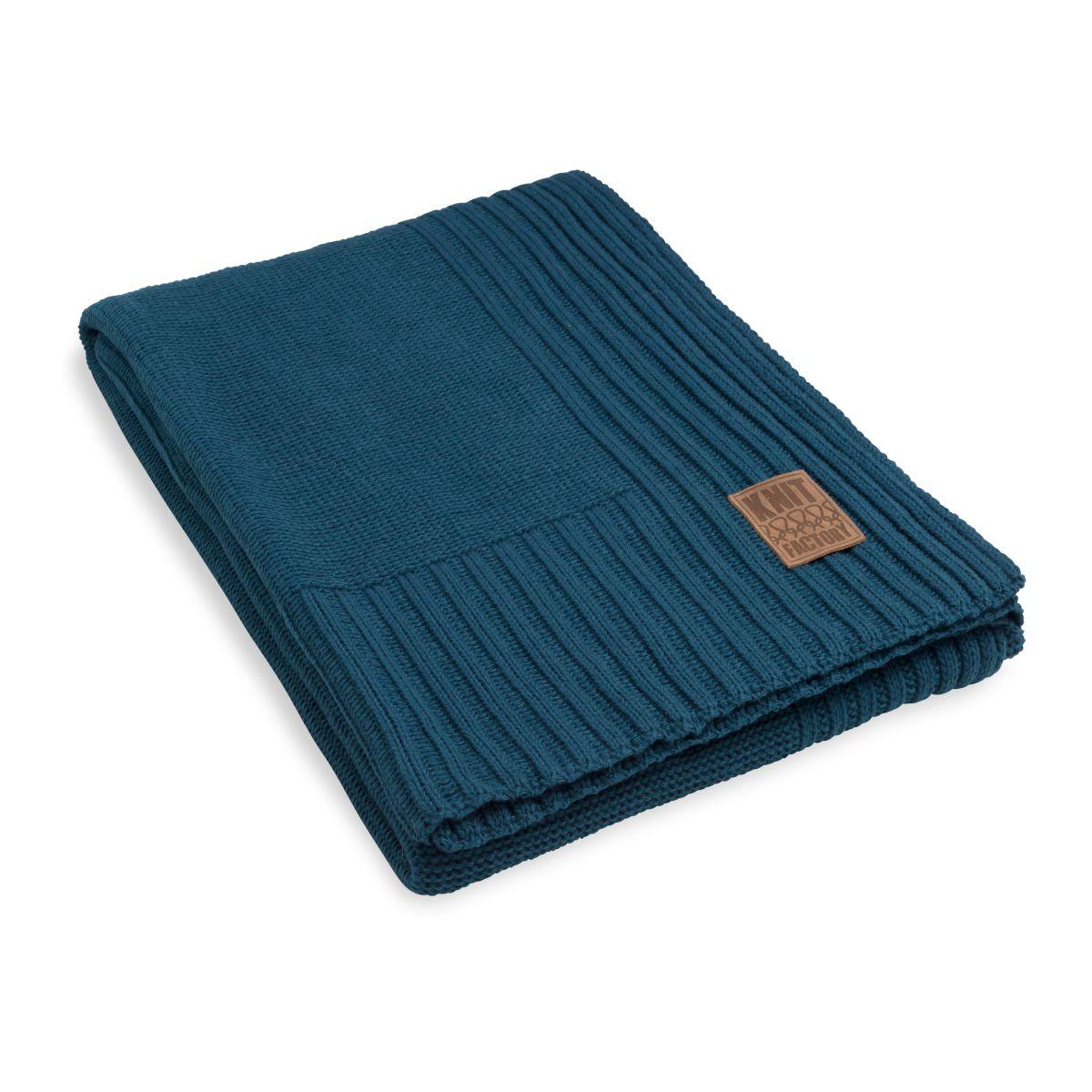 knit factory kf11301100850 plaid uni petrol 1
