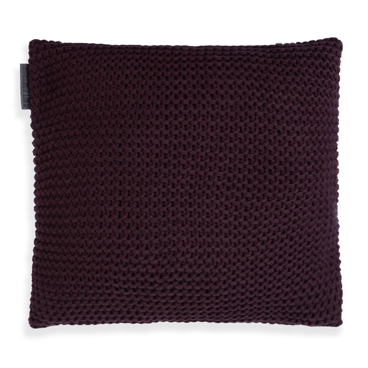 vinz cushion aubergine 50x50