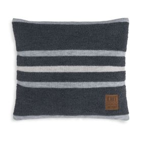 Yara Cushion Anthracite/Light Grey - 50x50