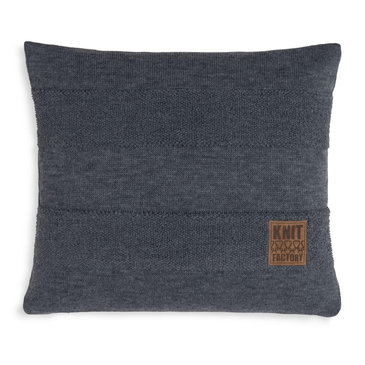 knit factory 1351210 yara kussen 50x50 antraciet 1