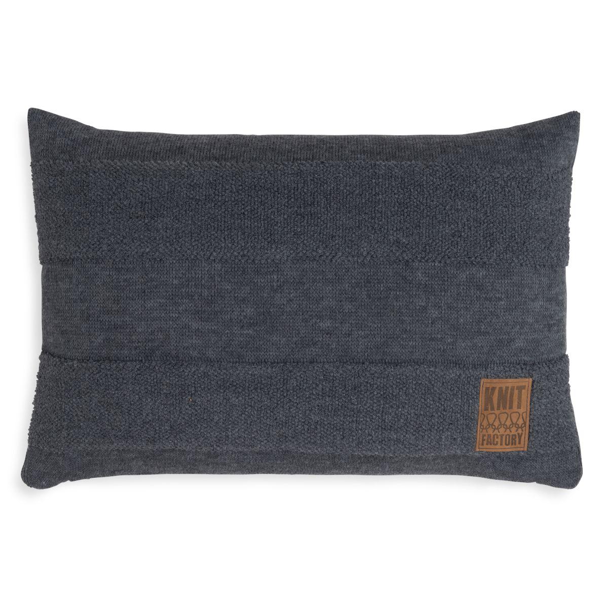 knit factory 1351310 yara kussen 60x40 antraciet 1