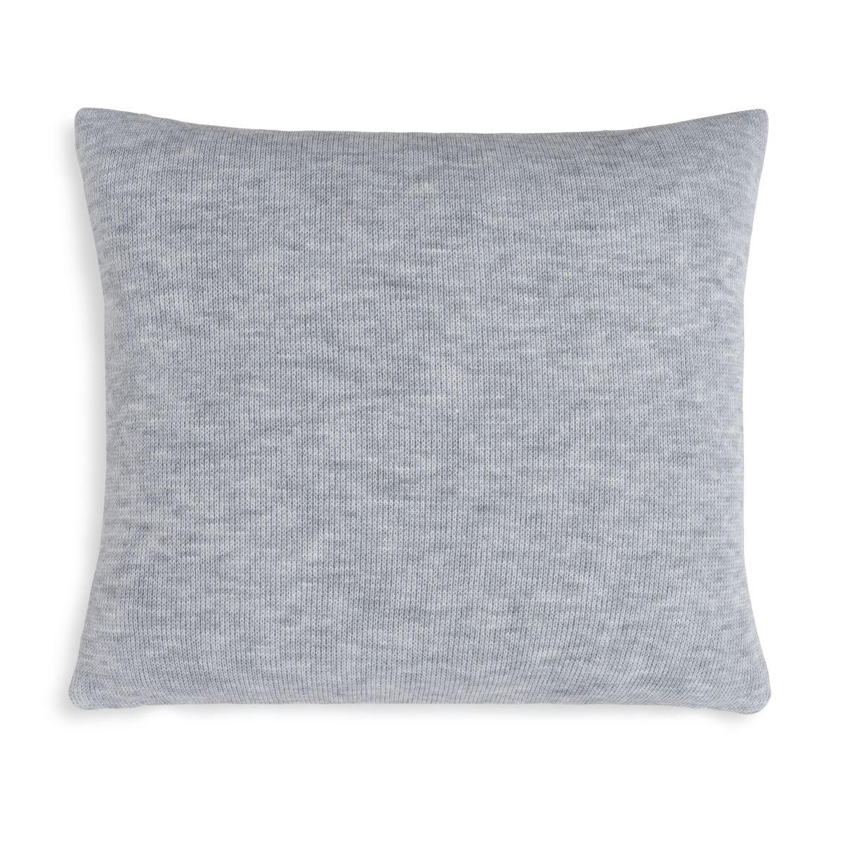 knit factory 1351250 yara kussen 50x50 antraciet licht grijs 2