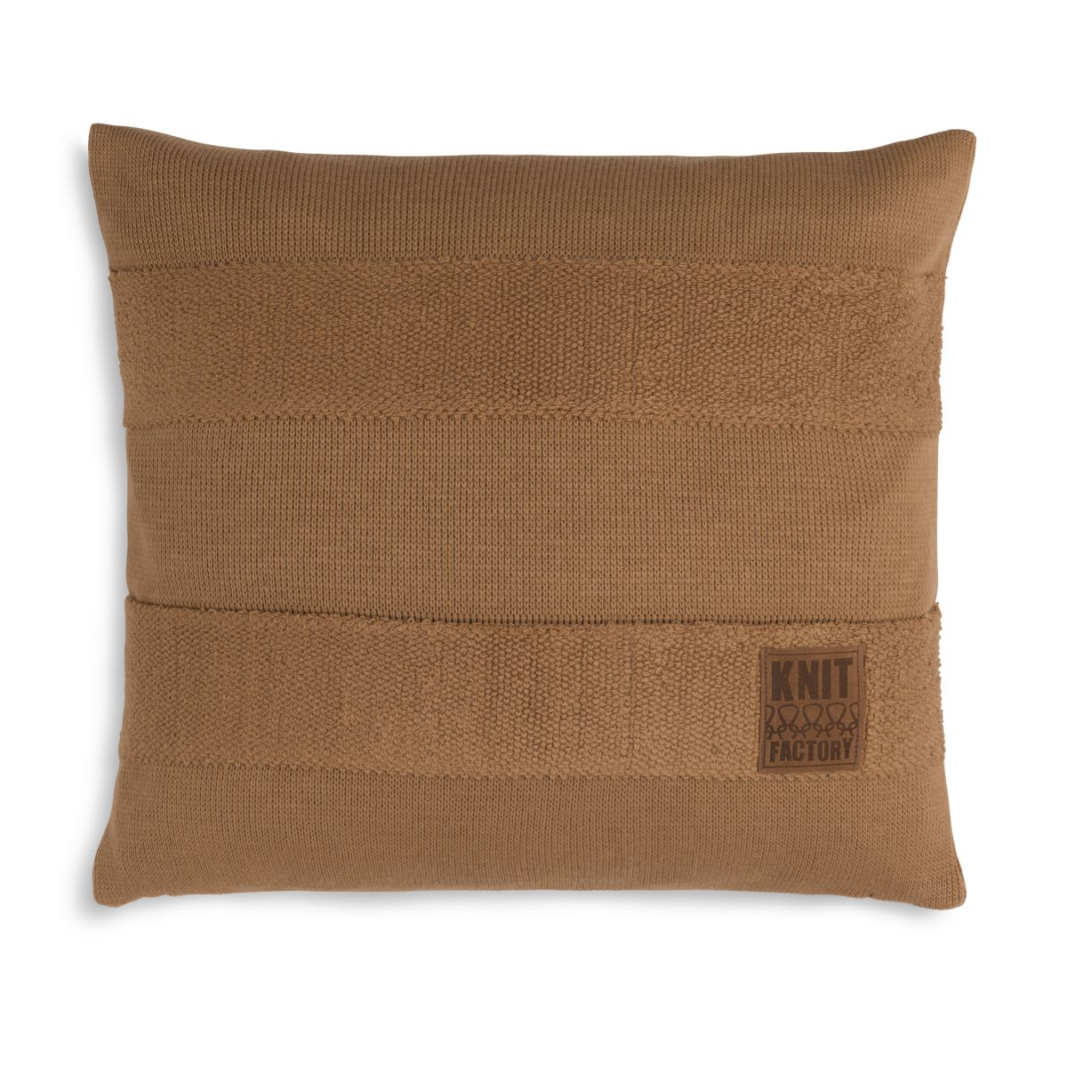 knit factory 1351220 yara kussen 50x50 new camel 1