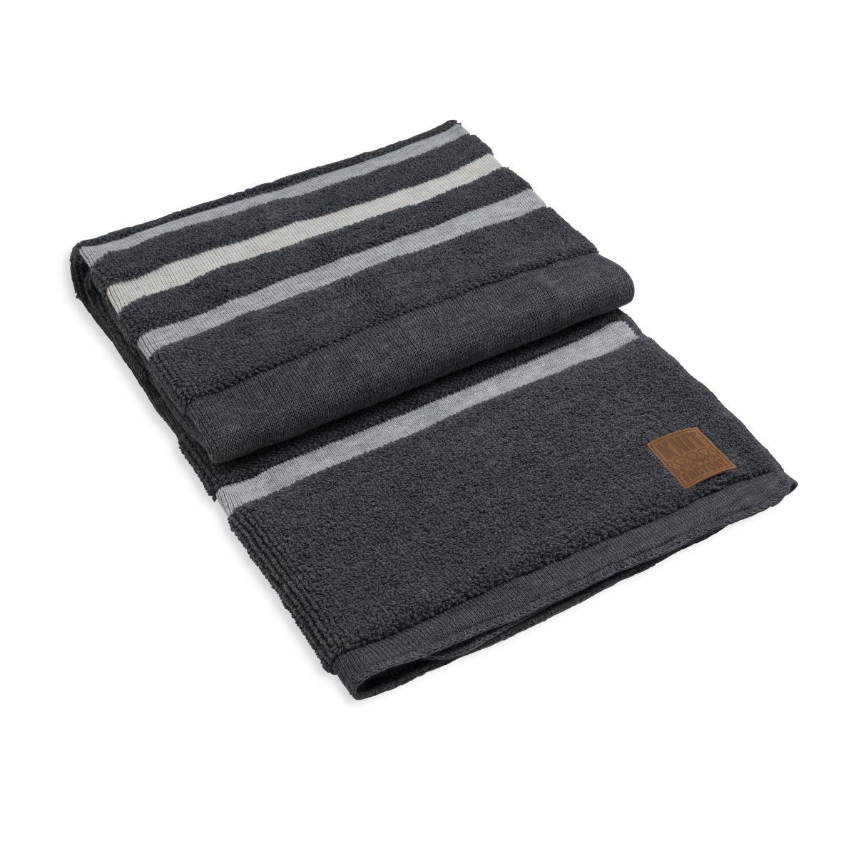 knit factory 1351150 yara plaid antraciet licht grijs 1