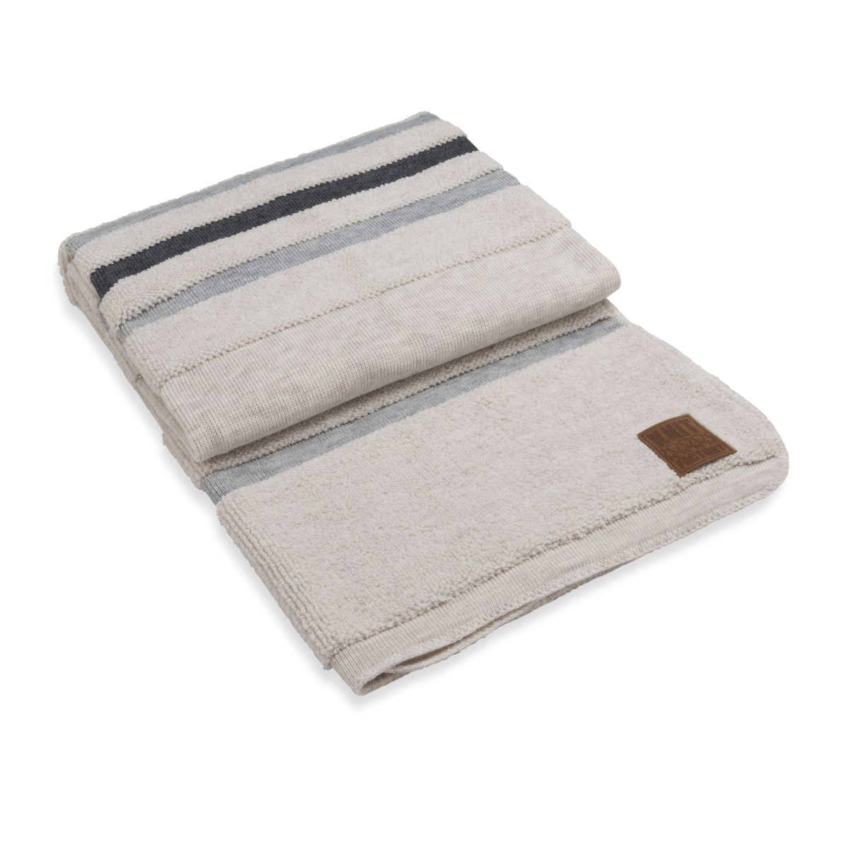 knit factory 1351145 yara plaid beige licht grijs 1