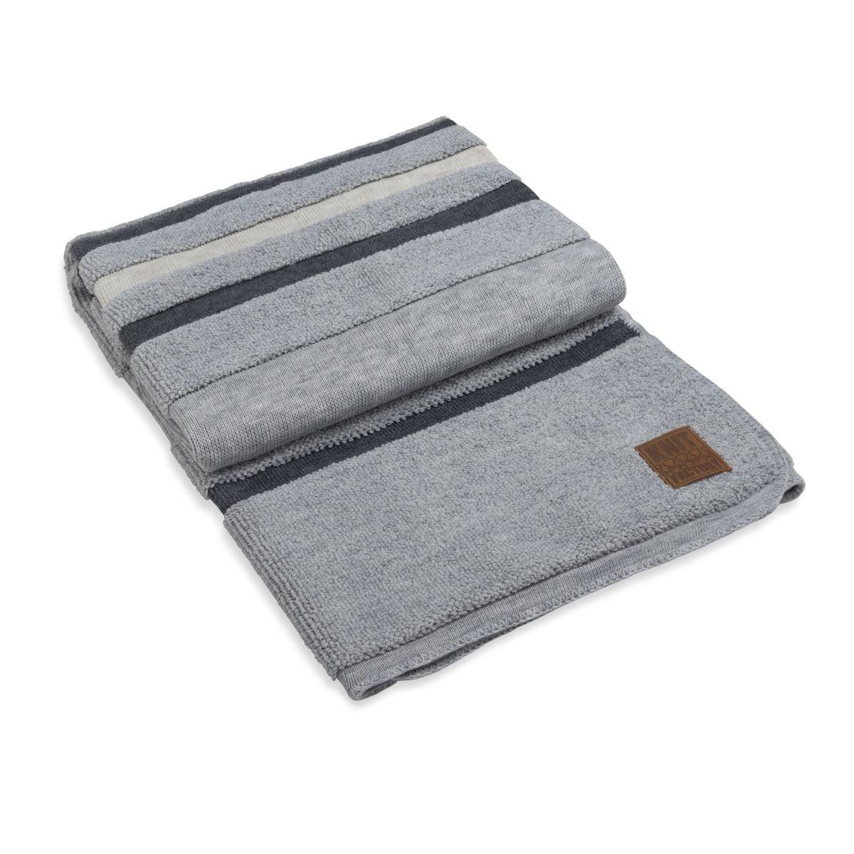 knit factory 1351151 yara plaid licht grijs antraciet 1