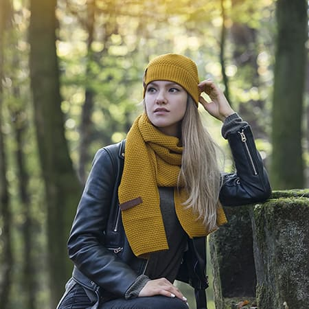 Knit Factory scarf Jazz ochre
