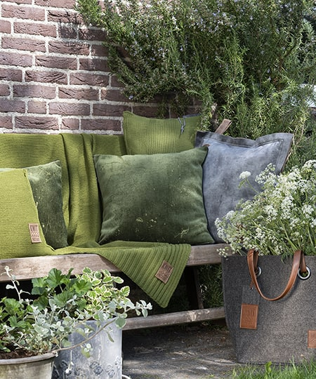 Knit Factory - Green decoration cushions